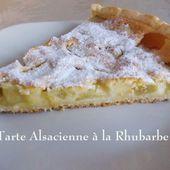 Tarte Alsacienne à la Rhubarbe de Ginette Mathiot, au Petit Bistro - Chez Mamigoz