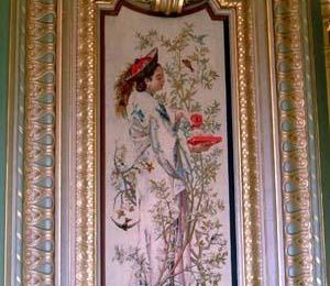 Le beau tissu de la tapisserie...