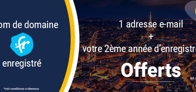 SEO / Web : Votre .fr offert pendant 1 an avec Namebay et l'AFNIC