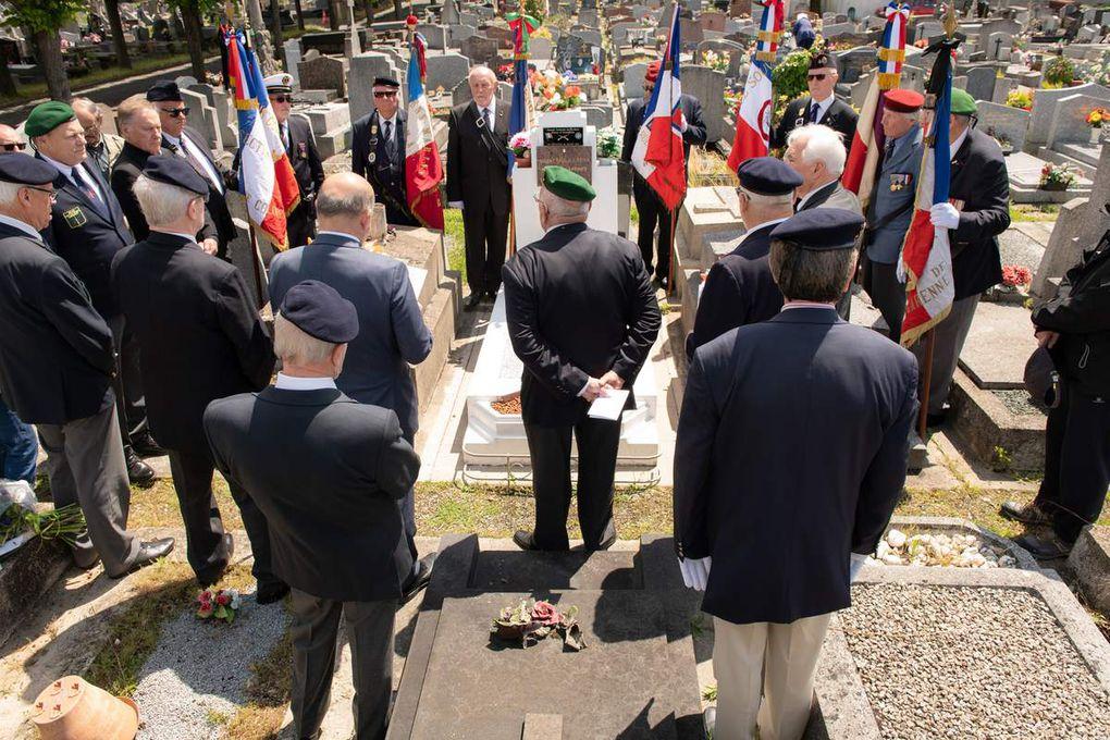 A Nanterre, hommage du Souvenir Français à un ancien du commando Kieffer.