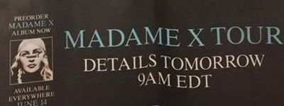 Madame X World Tour : It's coming soon