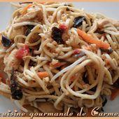 Nouilles chinoises à ma façon - Cuisine gourmande de Carmencita