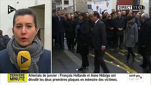 Le nom de Georges Wolinski mal orthographié sur la plaque d'hommage dévoilée ce matin par Hollande !