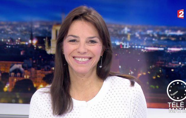 📸7 SOPHIE LE SAINT pour LE JT de 7H30 ce matin @France2tv @telematin #vuesalatele