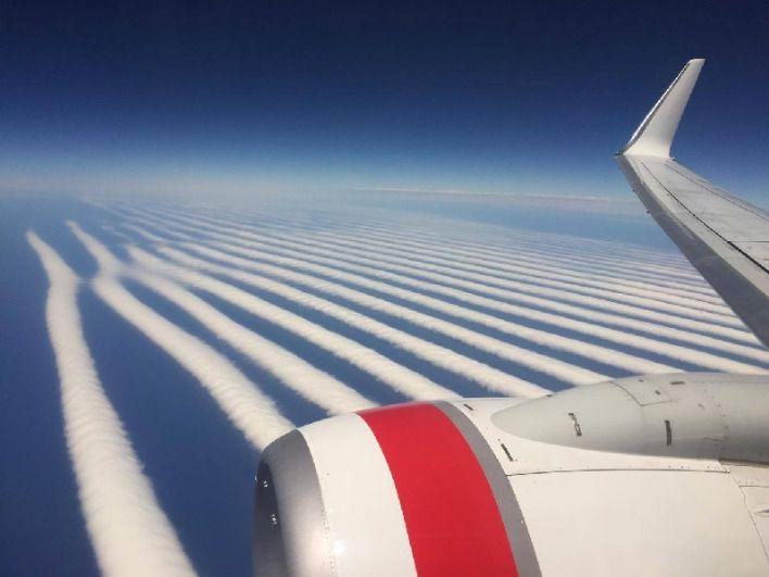 Formations nuageuses étranges prises d'un vol VA 714 entre Perth et Adélaïde début 2017