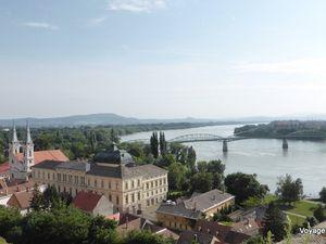 Esztergom et son immense basilique (inspirée de St-Pierre de Rome)