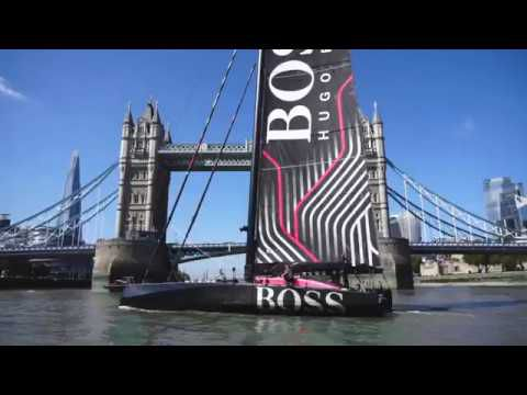 VIDEO - Alex Thomson's new Hugo Boss Imoca christened in London by Poppy Delevingne
