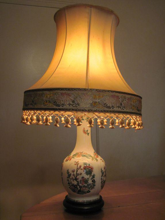 Lampe en porcelaine de Limoges