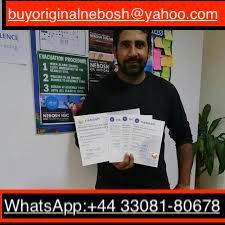 WhatsApp +4433081-80678) We can provide you a original NEBOSH IGC-IDIP Certificates online without taking any exams in UK and the results shall be legitimate and verifiable which means that you shall be able to use our registered NEBOSH certificates legally in real life without any problem. We have our agents working at the various NEBOSH exam centers around the world which gives us the access into the computer database to do your work and no one shall find out that we are the ones that did it. Buy Authentic NEBOSH diploma certificate, Buy legitimate NEBOSH igc certificate online, Purchase NEBOSH igc-idip certificates for sale without taking test online in Berlin, Hyderabad, London, Sydney, Dubai. Buy NEBOSH Certificate, Get valid NEBOSH certificate in France, Canada, Australia, Buy NEBOSH Diploma certificates for sale in UK Contact: Whatsapp: +44 33081-80678.
