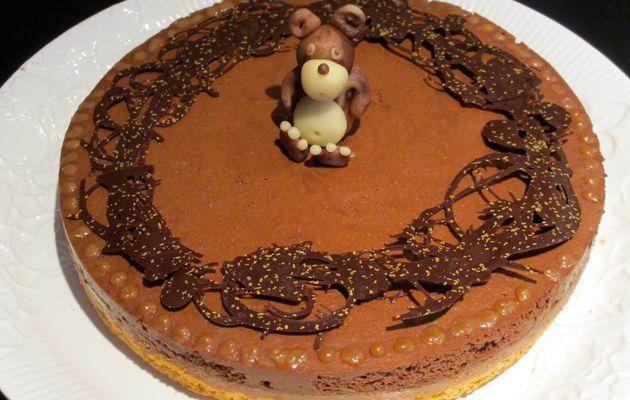 Gâteau croustillant et fondant au chocolat
