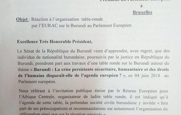 Le Sénat réagit contre l'invitation des individus poursuivis par la justice à la table ronde organisée au parlement Européen