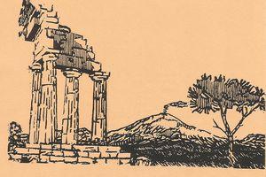 """""""Sicilia"""" sonnet de Roger Terré, illustré par un de ses amis."""