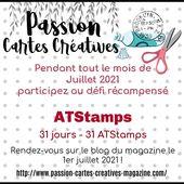 Défi de juillet 2021 (récompensé) - PASSION CARTES CREATIVES MAGAZINE