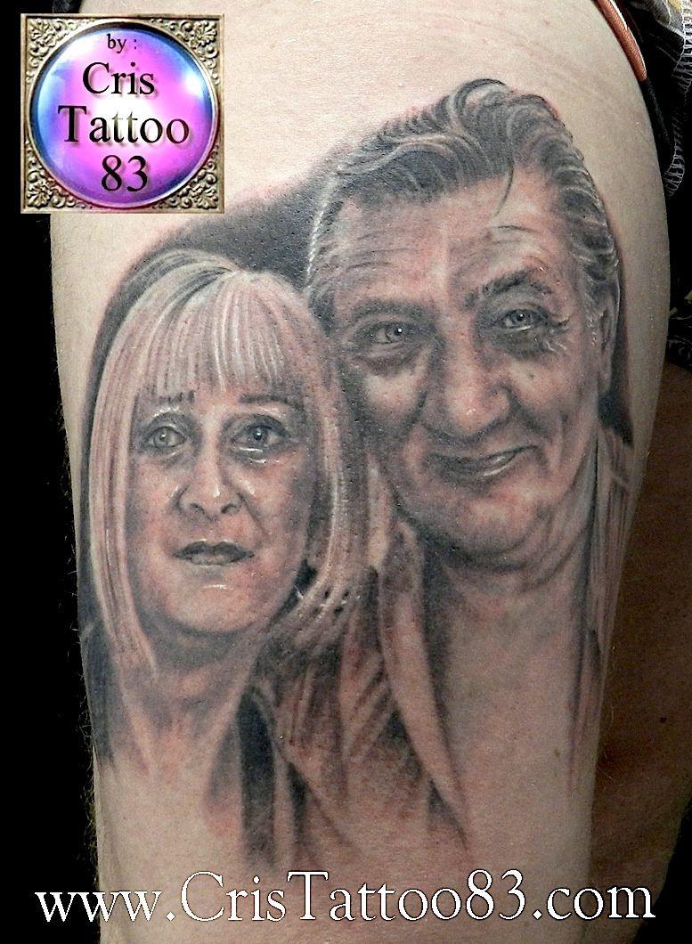 tatouage portraits cuisse