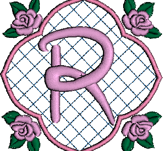 ABC aux 4 roses: la lettre R
