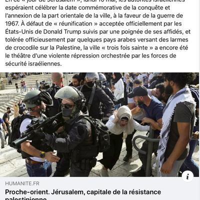 Jérusalem, Gaza, Palestine : annexion, humiliation, vol de la terre