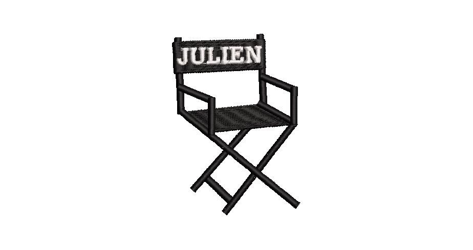BRODERIE FAUTEUIL CINEMA