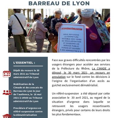 Contre la dématérialisation de l'accès au guichets préfectoraux, appel à mobilisation le 18 mai.