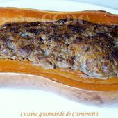 Butternut farcie viande et marrons - Cuisine gourmande de Carmencita