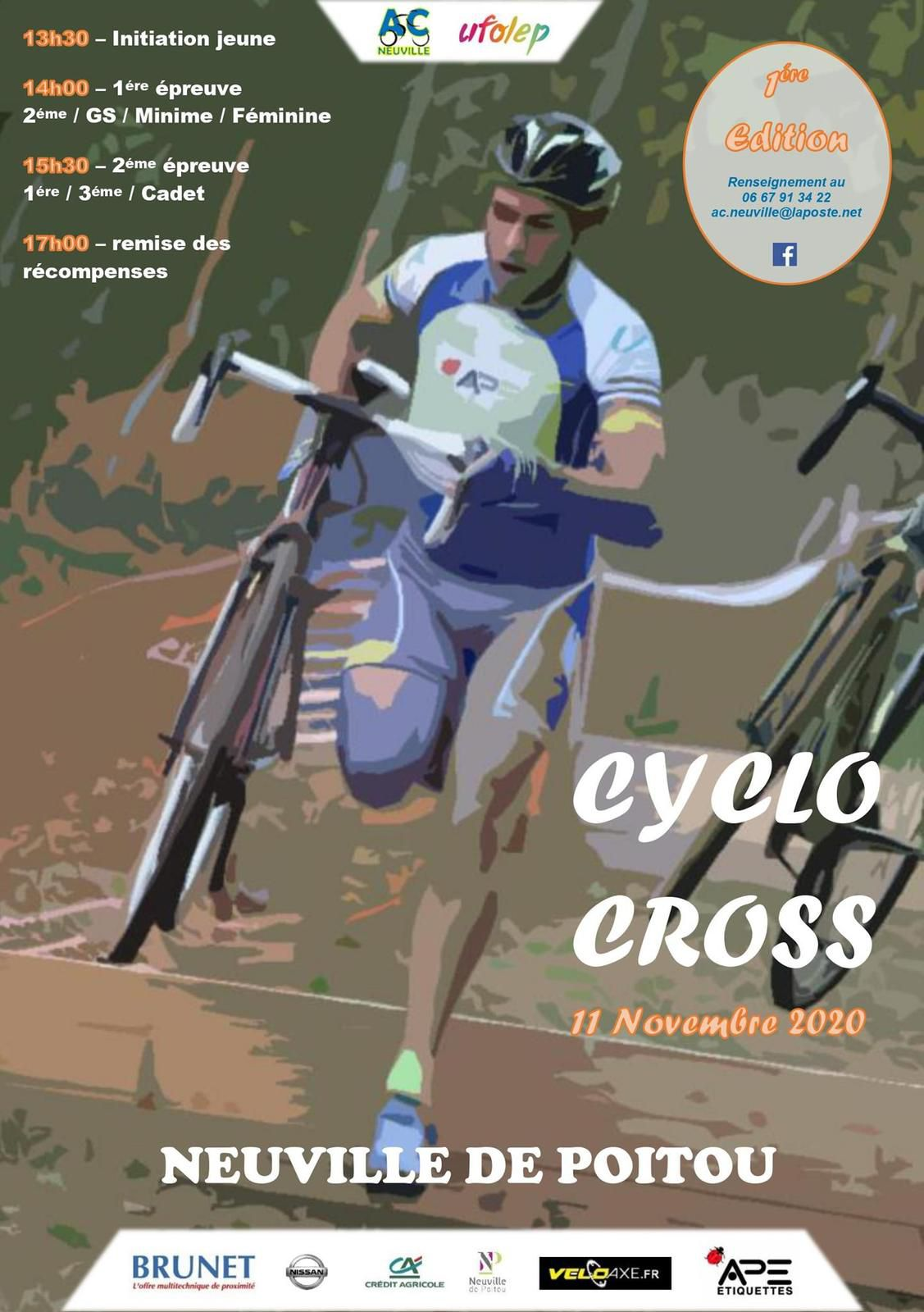 MERCREDI 11 NOVEMBRE 2020 / CYCLO CROSS A NEUVILLE 86