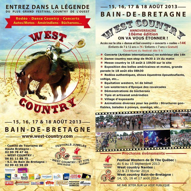 Pendant 4 jours, là 10ème édition du Festival West Country , se déroule à Bain de Bretagne où de nombreuses animations sont au programme