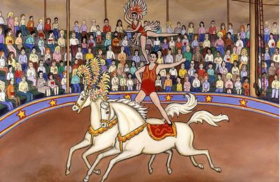 Des saltimbanques au cirque