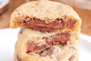 Cookies Cœur Fondant à la Pâte à Tartiner au Chocolat