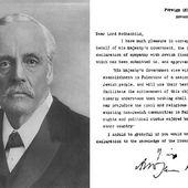 février : 1917 la déclaration Balfour, les origines de la question palestinienne