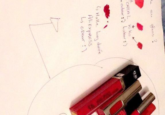 teste de rouges à lèvres marque kiko l'oreal primark aliexpress