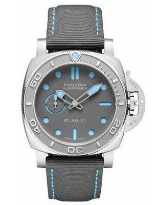 Panerai Submersible ELAB-ID Titanium 44mm Grey Dial Watch PAM01225