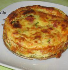 Cake de mousseline et légumes