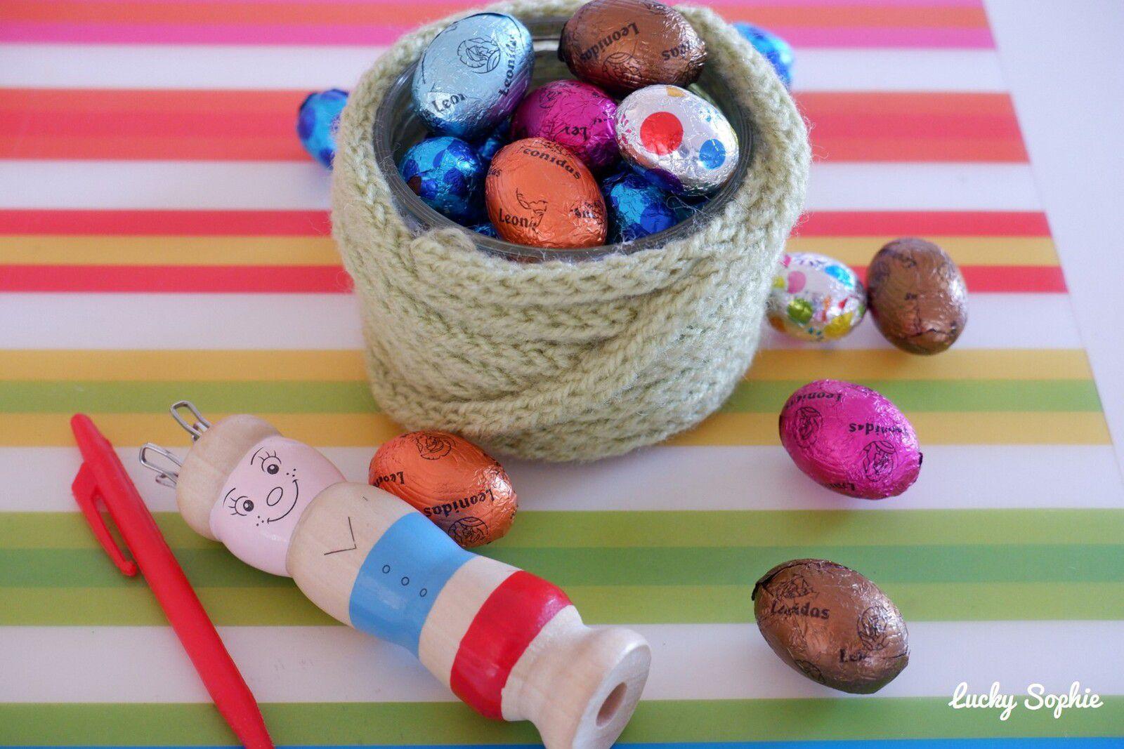 Nid de Pâques en tricotin et chasse aux oeufs Citizenkid