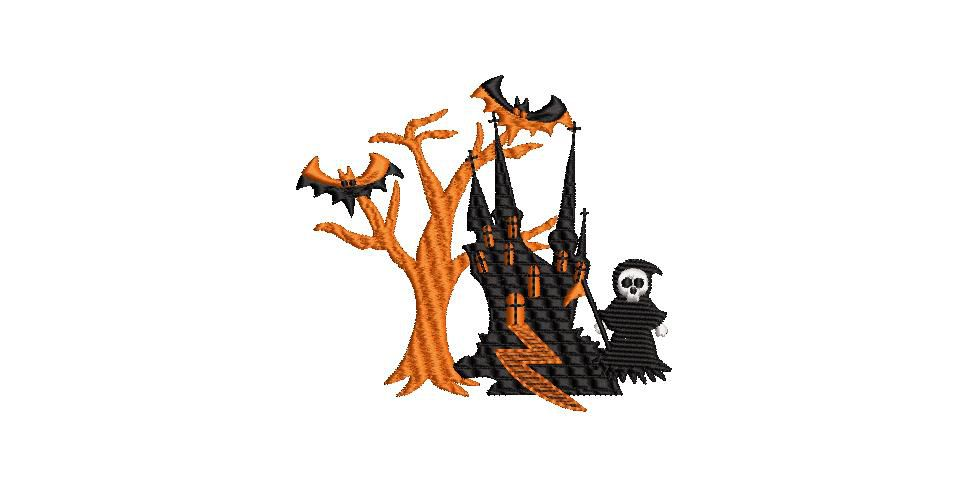 BRODERIE CHATEAU HALLOWEEN