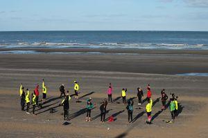 Biathlon à la plage, le dimanche 17 janvier