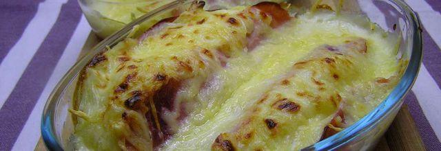 barquettes de jambon à la purée gratinée