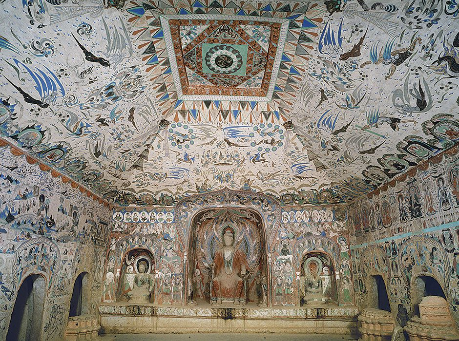 Grotte 285 (crédit photo : Dunhuang academy)