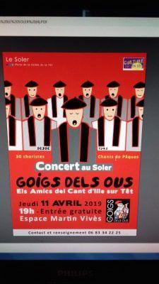 les Goigs dels ous au Soler pour le concert de Pâques 2019