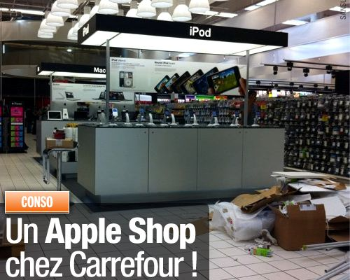 Un Apple Shop chez Carrefour !