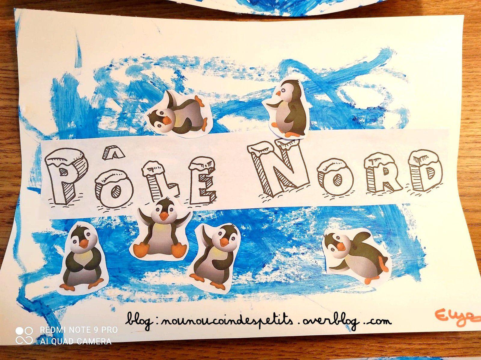 .. Pôle Nord peinture glaçon ..