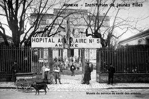 CHARENTE - Hôpitaux militaires (1914-1918)