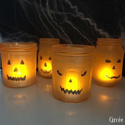 Lanterne citrouille d'Halloween