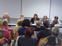 """Jeudi 17 mai 2018, à Firminy, salle F. Mitterrand pour l'assemblée générale de l'épicerie sociale et solidaire """" P'tit pont de Laya"""". Rappelons que l'épicerie est ouverte à toutes et à tous."""