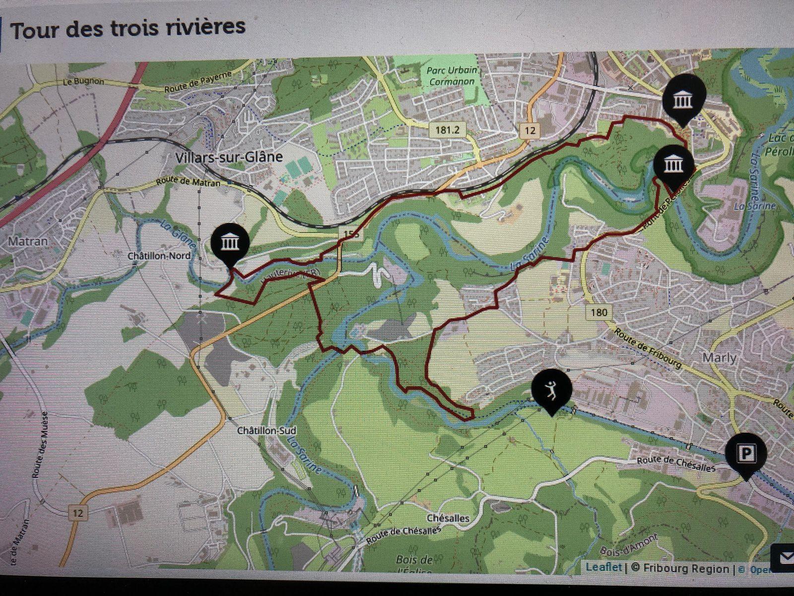 Mardi 16 Mars : Tour des 3 Rivières  Marly