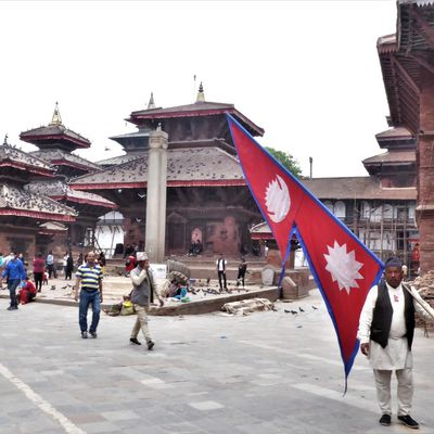 Katmandou (2) ... Le Durbar Square de Katmandou en pleine restauration