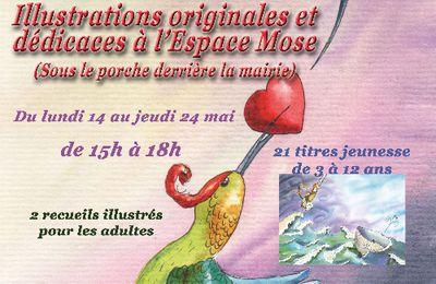 14 - 24 mai 2018 : HELENE VALENTIN à l'ESPACE MOSE de LA ROCHE-POSAY , illustrations et dédicaces