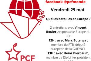 """Quinze ans après le """"non"""", deux entretiens du PCF le vendredi 29 mai"""