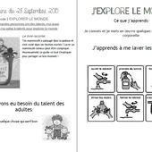 Comment bien laver son mammouth laineux cahier de liaison n°5 (2015-2016) - école petite section
