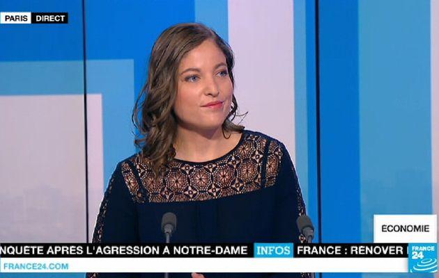 📸5 JOANNA SITRUK ce matin pour L'ECONOMIE dans PARIS DIRECT @FRANCE24 @France24_fr #vuesalatele