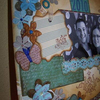 page vintage 30X30 amour (marie)