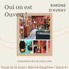 Réouverture des Puces de St Ouen : Simone d'AVRAY bijoux